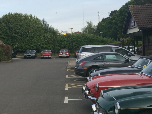 The wrong Hotel at Dover with some rather nice cars